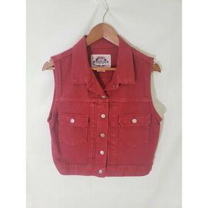 Rare Vintage Levi's Red Tag Denim Vest Red Denim M